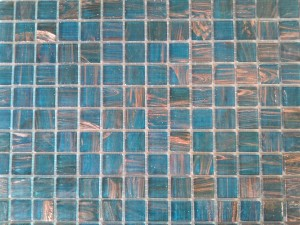 Amber Teal Glass Mosaic Thompson Tile & Stone