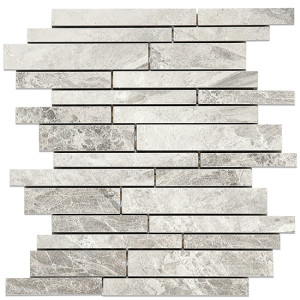 Thompson Tile and Stone- Earth Dove Grey Mosaic