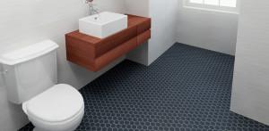 Thompson tile and Stone- Ontario hexagon install