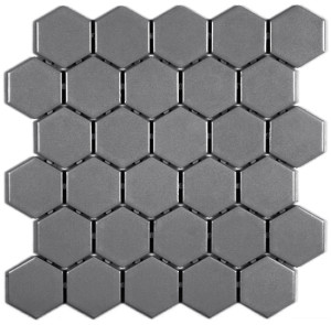 Thompson tile and Stone- Ontario Dark Grey Hex Gloss